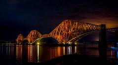 Forth Bridge at night. (Calum Linnen) Tags: forth railway bridge scotland river nikon d7100 edinburgh rail