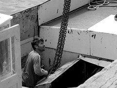 Work on wrack boat (patrick_milan) Tags: noiretblanc blackandwhite noir blanc monochrome nb bw black white street rue people personne gens streetview homme man viril beau boy garon beautiful portrait face candide portsall plouguin ploudalmezeau