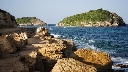 Antigua's Rocky Shore