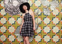 Amy Roiland (reecord2) Tags: portrait fashion amyroiland afashionnerd richardsheehan canon fashiontap 50mm tiffen 6d fullframe pasadena tiles flowers valfre
