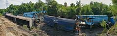 Crash site (Rivo 23) Tags: bdz bulgarian state railways heavy derailment train derail crash railway waggons takraf crane
