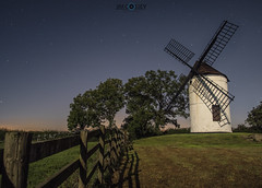 Galactic Windmill (JimCosseyPhotography) Tags: ashton windmill somerset levels west country england panasonic samyang f2 night sky stars astrophotography lumix gx8 countryside moonlit landscapes