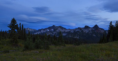 Tatoosh Range at Blue Hour (Mt Rainier NP, Paradise, WA) (Sveta Imnadze. (Will be away for a while. Have ver) Tags: nature landscape bluehour sky clouds tatooshrange twilight mtrainiernp paradise wa hiking outdoors