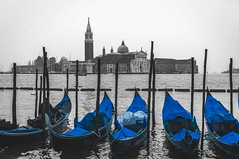 The famous blue... (Syahrel Azha Hashim) Tags: nikon stmarcossquare italy italia clearsky shallow holiday simple details transportation island architecture dof touristattraction building tour getaway handheld attraction venice vacation venizia prime light venezia naturallight 35mm colorful syahrel beautiful travel selectivecoloring colorimage euro colors gondolas traveldestination europe d5000 detail