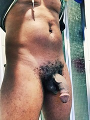 My hairy black cock. (shiznitii) Tags: candystick chocolatecock chocolate hairy oz aussie wa australia perth penis darkmeat thick blackcock bbc cock dick