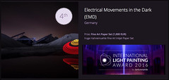 International Light Painting Award 2016 - 4th place for EMD (Electrical Movements in the Dark) Tags: lightartperformancephotography lapp electricalmovementsinthedark emd lightart lightpainting longexposure