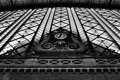 image (Luis Iturmendi) Tags: clock reloj estacin station atocha train arquitectura arquitecture edificio building perspectiva bw blancoynegro blackandwhite monochrome monocromo city urban ciudad