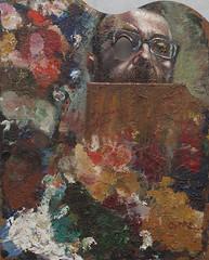 Giaman, Oltre (Self-portrait), 2012 (atelier nerodimARTE) Tags: selfportrait portrait oilonwood oiloncanvas colors germany kunst farben arte art zeichnen drawing painting malen