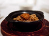 Braised abalone with rice in clay pot (h329) Tags: 25mm cantonese chinese food hyperprimeslrmagic mandarinoriental t095 taipei yage m34 em5 omd 台北東方文華酒店 雅閣 鮑魚 abalone rice claypotrice