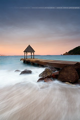 "Sunset on the ""Marco-Polo"" pier at Theoule sur Mer ( France ) (Yannick Lefevre) Tags: europe france landscape seascape rock pier sunset longexposure shore beach sea thoulesurmer alpesmaritimes cotedazur provence frenchriviera restaurant paysage nikon d810 raw nef nikkor1635mmf4 lightroomcc photoshopcc tripod gitzo leefilters 09gndsoft 06gndsoft"