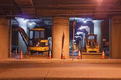 (EYECCD) Tags: night cat construction traffic cheers chuck trucks lirr cones hicksville cheers2 550d skidsteerloader wheelexcavator chuck2 chuck3 chuck4 cheers3 chuck6 chuck9 chuck5 chuck7 chuck8 chuck10