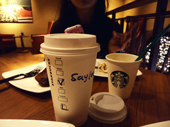 Two cups of coffee and loads of memories.. (saylee_padwal) Tags: food india cute chicken coffee cafe chocolate beverage samsung starbucks mumbai toffee foodgasm tumblr