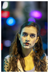 kiss me (John Truong Pictures) Tags: halloween kiss cosplay circus clown makeup harley quinn pasadena kissme harleyquinn scaryclown 2012 oldtownpasadena clowngirl harlequinn femaleclown johntruong johntruongpictures johntruongphotography