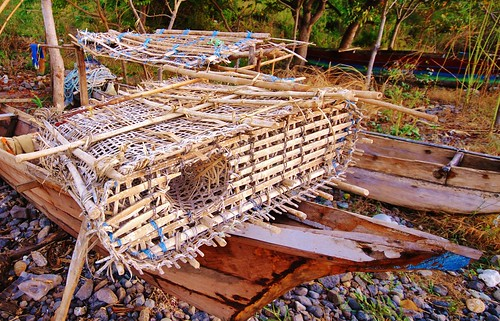 Fish traps in Timor Leste. Photo by Jennifer King, 2012.