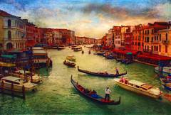 The Grand Canal, Venice (Ancora Marina) Tags: venice italy texture canal europe grand blinkagain