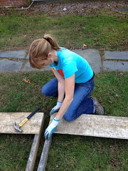 Meghan starts sides (lolabeans) Tags: compostbin weekendprojects farmhouseliving