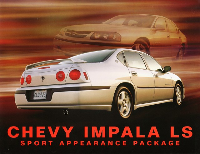 2002 canada chevrolet sport chevy impala brochure package ls appearance