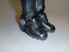 Sergeant Calhoun LE 17'' Doll - First Look - Reassembling - Free Standing - Boots Back On - Closeup Front Left View of Boots (drj1828) Tags: shoes doll boots personal calhoun bodysuit limitededition sgt disneystore sergeant 17inch reassembly deboxed wreckitralph