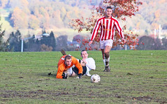 Saved (Kevin Hughes 348) Tags: autumn football goal soccer attack defend hareandhounds footballers swaninn connahsquay gwernymynydd deesidesundayleague gazhayes