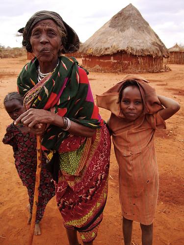 Elderly women and children-Melbana Village-Oromia Region