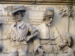 Abtech House, 18 Park Row, Leeds, West Yorkshire (mira66) Tags: sculpture terracotta yorkshire leeds frieze relief figures publicsculpture abtech gwuk guessedbydavid99b