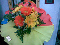 37 (otti.f.c.) Tags: flowers orange yellow giallo fiori arancione mazzo gerbere