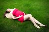 (osnat meidan) Tags: red green grass dress pregnant osnat meidan pregonlocsite
