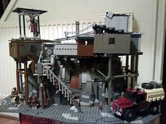 Rock settlement  (WIP) (Babalas Shipyards) Tags: rock butte lego base settlement scavengers fortified postapoc apocalego