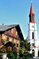 Old House & Church (tewhiufoto) Tags: house church digital photography austria nikon foto dslr attersee 18105mm hauptstrase atterseeamattersee tewhiu nikond3100