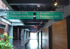 Interior Wayfinding Suspended Directional Sign