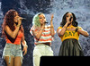Karis Anderson, Courtney Rumbold and Alexandra Buggs of Stooshe Cheerios Childline Concert 2012 held at the O2 Arena