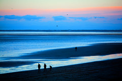 Sunset Silhouettes (juliereynoldsphotography) Tags: sunset beach silhouette coast wirral leasowe juliereynolds