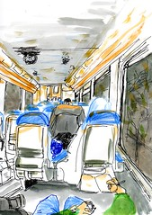 crobs292 (Julien B_26) Tags: france train pencil watercolor sketch aquarelle crayon coloured croquis stylo