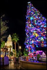 The Big Christmas Tree at Carthay Circle (Explore) (Gregg L Cooper) Tags: california park christmas street tree night canon circle eos disneyland disney adventure 7d vista hdr buena carthay
