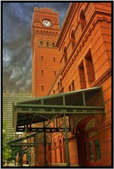 Dearborn Station ~ Chicago Il (Onasill) Tags: dearborn station chicago il cook county railroad romanesque revival architecture style eidlitz architect tower clock commercial reuse c train preservation historic nrhp register registry retail building cl landmark historical onasill ipad apps photogene saariysqualitypictures flickr