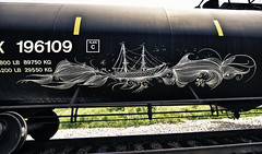 Deuce 7 (Revise_D) Tags: railroad graffiti steel 27 tagging railfan freight revised fr8 benching deuceseven fr8heaven fr8aholics
