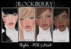 [ROCKBERRY] Skyler POE 5 Hunt ([ROCKBERRY]) Tags: life christmas skins peace earth free secondlife gift second hunt skyler rockberry poe5