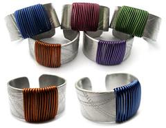 Angeles Flor mondrian rings (Ans Designs) Tags: textilejewellery angelesflor aluminiumjewellery ansdesigns