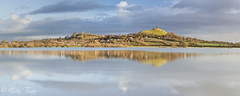 Isle of Avalon (etunar) Tags: panorama sunrise flood glastonbury somerset glastonburytor somersetlevels isleofavalon