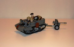 Bren Carrier with 6 pdr (LegoEng) Tags: 6 lego british carrier bren pounder 6pdr legoeng