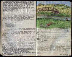 067-068 (The Hike Guy) Tags: moleskine watercolor journal moleskinerie sierranevadamountains notebookism kolbykirk