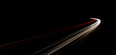 Light Swoosh - Dec 2012 (Ben Pearey) Tags: headlights lighttrails a1 a1m dualcarriageway