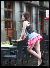 nEO_IMG_IMG_6161 (c0466art) Tags: show light portrait baby cute girl face female canon asia long pretty legs sweet outdoor good taiwan skirt short figure 5d feeling lovely activity  c0466art