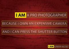 I AM A PRO (Gabe_Gabe) Tags: bw photography design graphicdesign nikon photographer graphic gabe ve pro prophotographer gbor vecsei nikonadvertisement