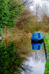 CanalBoat (Baz's Camera) Tags: canon reflections boat canal cheshire trent barge mersey 1100d