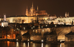 Prague (Zahadam Industries) Tags: city bridge panorama castle night river dark photography this is nikon europe republic czech prague charles praha center historic most after vltava hrad strana d60 karlv mal prahy eka prask