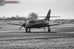 Prop vortices (Adrian Court LRPS) Tags: bw airport aircraft jetstream bae 31 takeoff runway vortices cranfield cfd aeronaut egtc js31 gnfla collegeofaeronautics