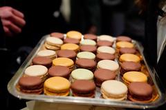 Tray of Ladure macarons (thewanderingeater) Tags: nyc dessert cookie manhattan holidayparty uppereastside confection macaron ladure frenchmacarons frenchcookie phototakeninnyc