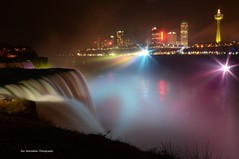 colorfalls (explored) (Rex Montalban Photography) Tags: newyork canada night niagarafalls niagara waterfalls coloredlights americanfalls skylontower fallsviewcasino rexmontalbanphotography