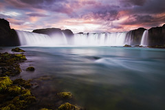 godafoss colors (Dennis_F) Tags: sunset summer sky nature water colors beautiful river landscape island waterfall iceland stream wasser europa europe sonnenuntergang wasserfall sommer natur north norden himmel gelb gods polar blau fluss landschaft isle farben rota vulkan godafoss langzeitbelichtung vulcanic waterfallofthegods islandic
